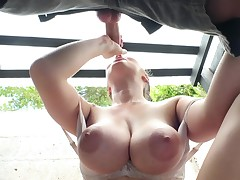 busty outdoor